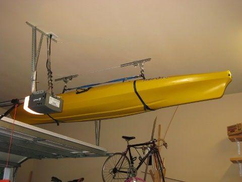 Diy Kayak Hoist Kayak And Sports Gear Pinterest