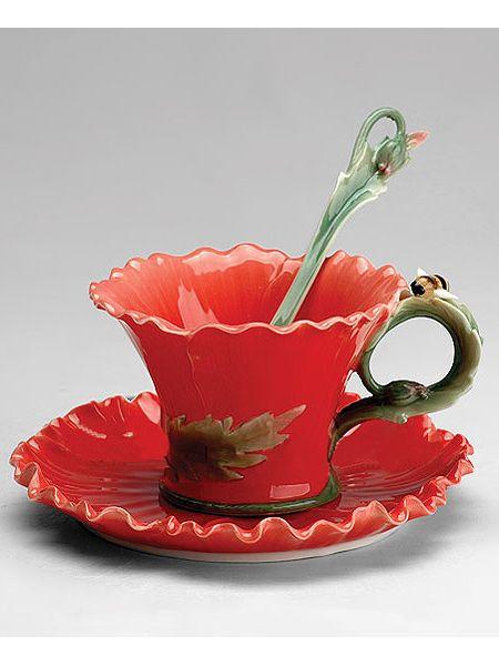 """Чайная пара """"Маки"""", Pavone на Маркете VSE42.RU"""