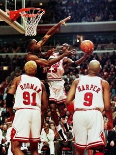 Michael Jordan Chicago Bulls Dennis Rodman Dennis Rodman Ron Harper Denver Nuggets