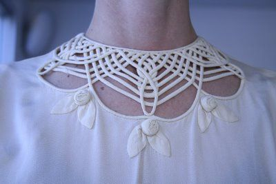 Gorgeous openwork corded yoke
