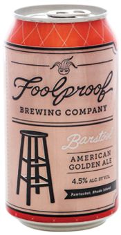 Foolproof Brewing Company || Pawtucket, Rhode Island || One of Rhode Island's favorite local breweries, Foolproof believes in 'experience based brewing' meaning the brewers have singles our specific life experiences that call for a beer. The Barstool Americal Golden Ale is designed to compliment a night out with friends.