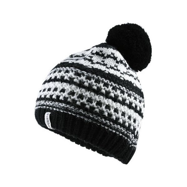 Superdry Nordic Pattern Bobble Hat ($12) ❤ liked on Polyvore featuring accessories, hats, cream, logo hats, pattern hats, cream hat, bobble hat and nordic hat