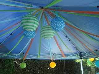17 best images about kai 39 s baby shower ideas on for Baby shower canopy decoration