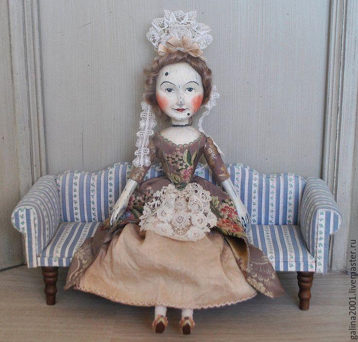 Купить Агата - кукла из дерева - дерево, липа, состаренная кукла, в стиле мастера хиггса