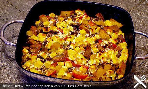 Kartoffel - Hack - Auflauf mit Schafskäse, ein sehr leckeres Rezept aus der Kategorie Kartoffeln. Bewertungen: 91. Durchschnitt: Ø 4,2.