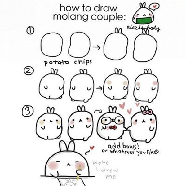 Molang - drawing lesson.