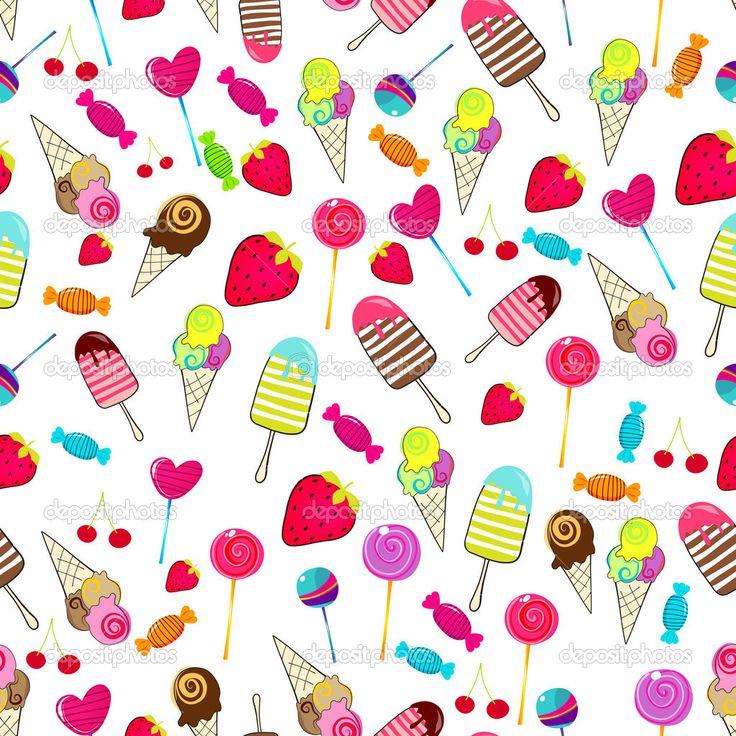 Popular Ice Cream Wallpaper Buy Cheap Ice Cream Wallpaper: Papel De Parede Tumblr De Coração