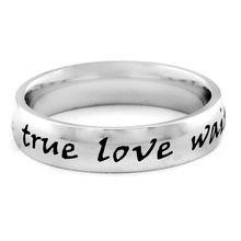 """ELYA Stainless Steel """"True Love Waits"""" Ring"""