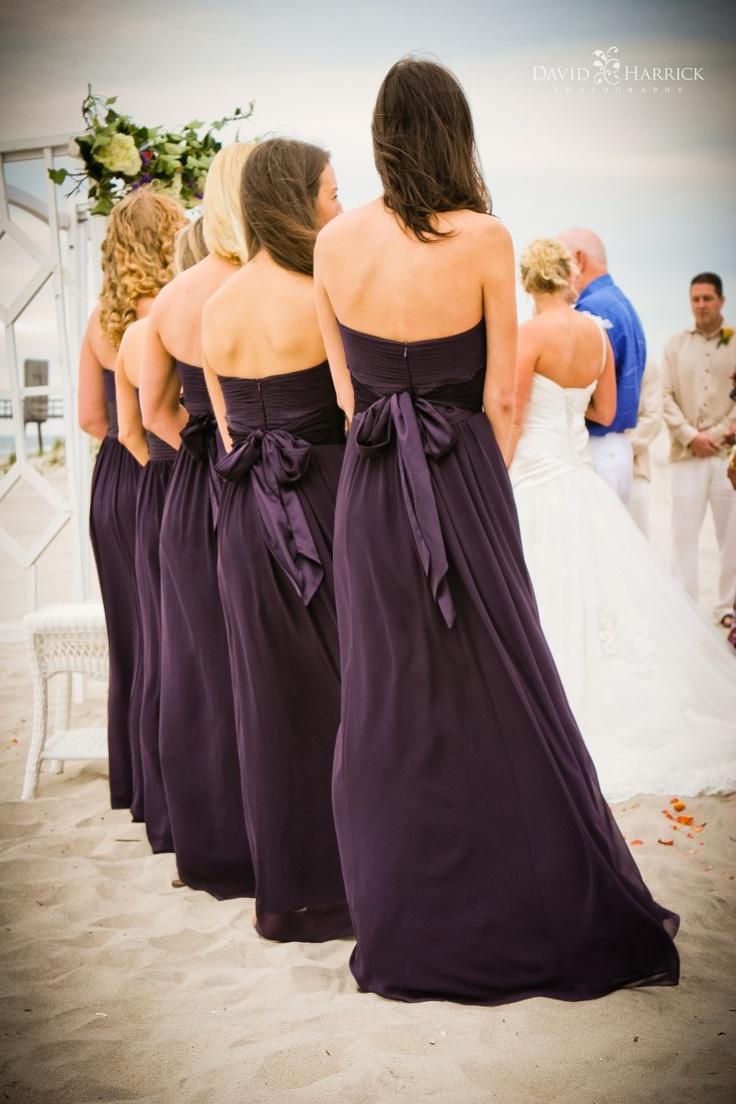 beach wedding in new jersey%0A Avalon  NJ   Beach Photographer Wedding Photography   David Harrick  Photographer  Bridesmaids Dresses Eggplant