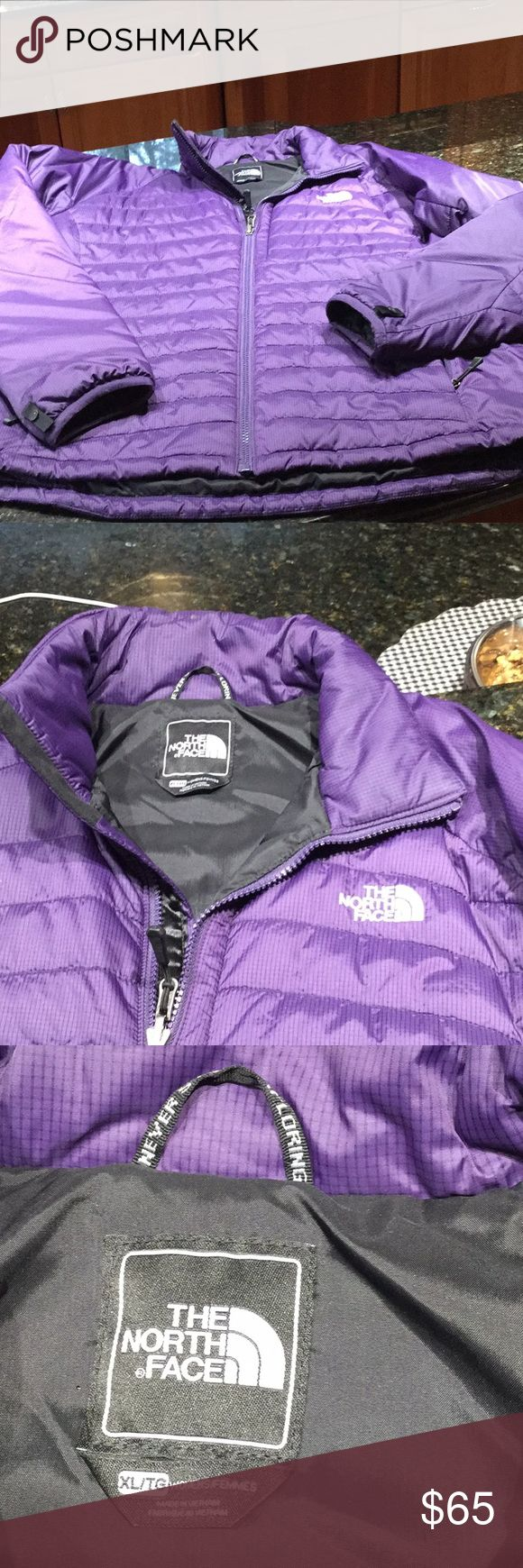 North Face woman's purple jacket North Face woman's purple jacket. Practically bran new, excellent condition, barley worn. Zipper front, side pockets, gorgeous color North Face Jackets & Coats Puffers