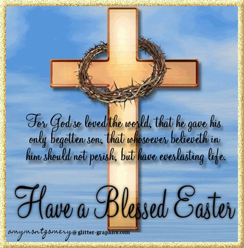 Happy Easter to all my family and friends.