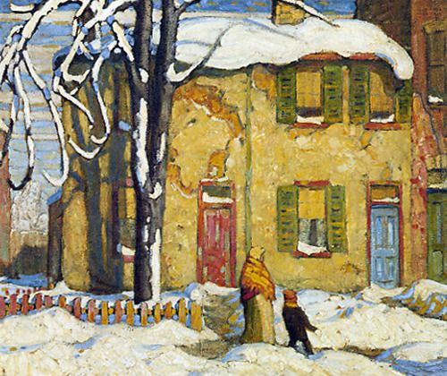 Old House, Toronto Winter c.1919 Lawren Harris