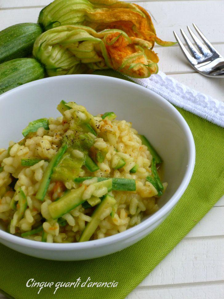 risotto zucchine e zafferano