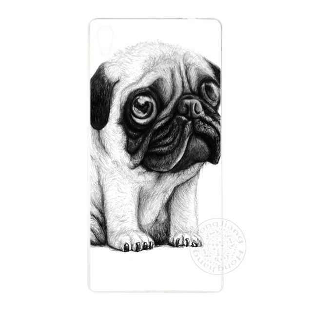 Free Pug Case - lovely pug dog Cover phone Case for sony xperia z2 z3 z4 z5 mini plus aqua M4 M5 E4 E5 C4 C5 XA