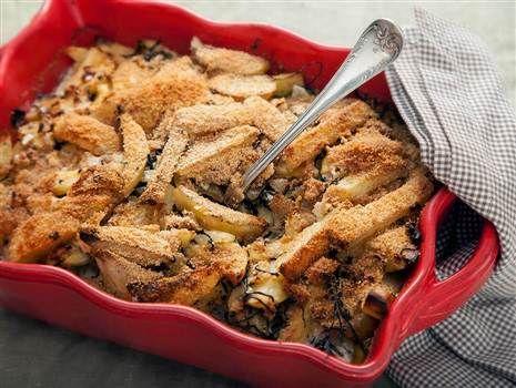 Vegetarisk Jansson. Recept: http://www.tasteline.com/Recept/Vegetarisk_Jansson_frestelse