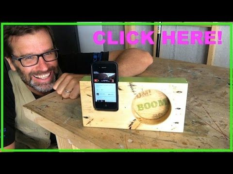 How to Make a Wooden iPhone Amplifier Cool Pallet Wood