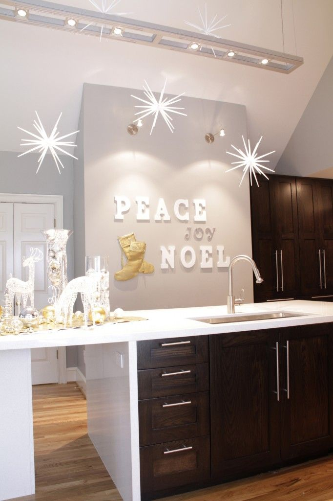 Decorate A Blank Wall In Your Kitchen For The Holiday