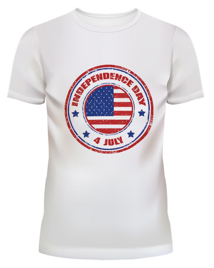 Unisex Independence Day 4 July USA Flag White T Shirt Size S M L by GrnGifts on Etsy