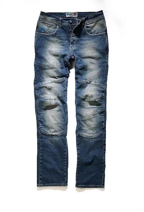 Pantalón JEANS Hombre PMJ Vegas - Pantalón VAQUERO para motoristas. Talla hasta la 62. Material: Denim algodón elástico de alto espesor de 12,5 onzas. Refuerzos textiles 100% TWARON® balísticos, forradas interiormente. Protectores en caderas, nalgas, y en rodillas, ajustable y extraíble. Colores: Azul, Azul-Oscuro, Negro.