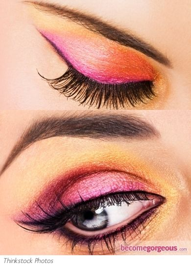 Gold and Pink Eye Makeup Look (Aw, if only I had the right skin tone for it!)