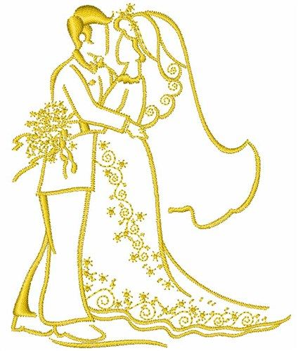 Wedding couple embroidery design pinterest