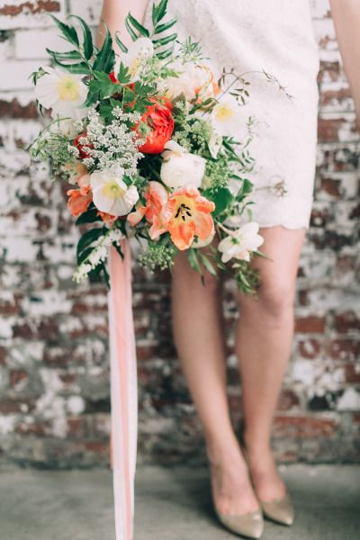 Tulips and daffodils: http://www.stylemepretty.com/2015/06/26/modern-romantic-spring-wedding-inspiration/ | Photography: Emily Delamater - http://emilydelamater.com/