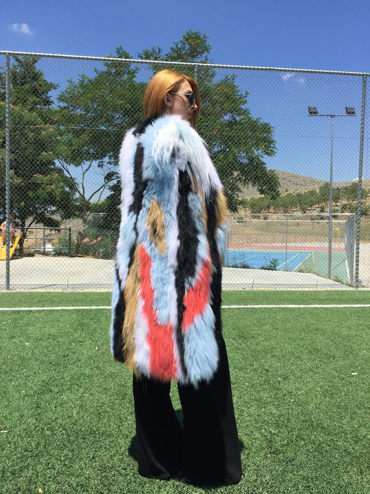 Multi color fox fur vest by collection 2016 from Abel fur