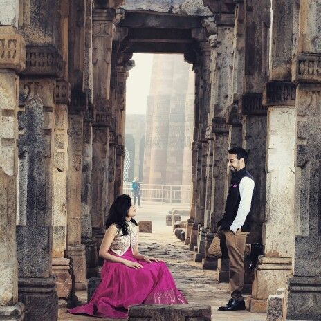 Our pre-wedding photoshoot in #Delhi!