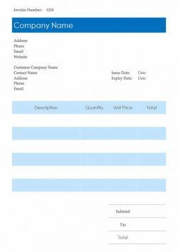 invoice template for freelancers