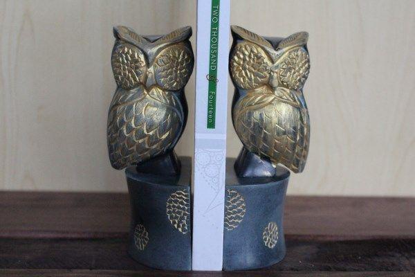 Owl bookends - Fair Trade