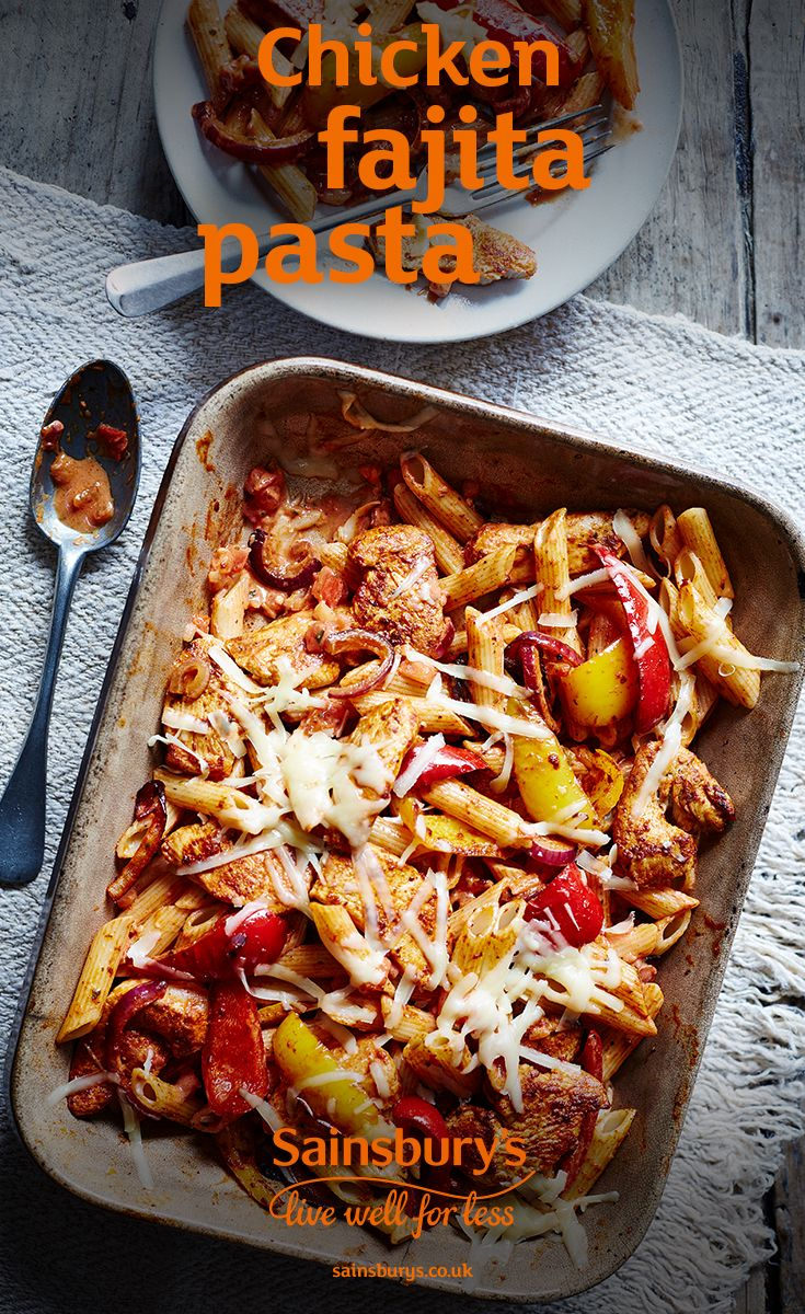 Chicken fajitas but without the wraps? Oh yes. This pasta dish is low in fat and high on taste.