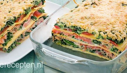 Zalm Spinazie Lasagne recept | Smulweb.nl
