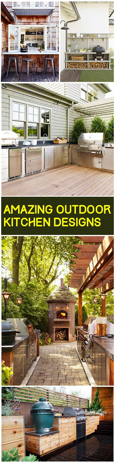 Summer is for cooking outdoors, imagine the amazing food you could cook in these outdoor kitchens?