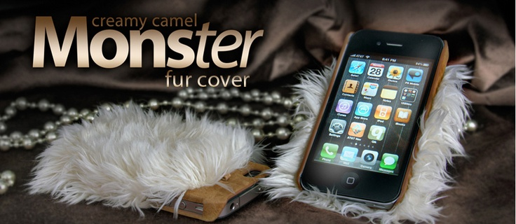 Winter Fun..  Shape it up and you got to be fun and surprise at a glance. Monster Fur Cover is a simple snap-on cover and artificial fur hybrid for your iPhone 4S. A novelty fur-is-fun accessory for this winter.