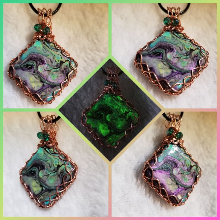 Sale Copper Wrap Color Shifting Acrylic Pour Micro