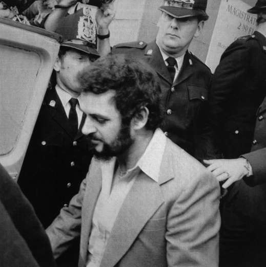 """May 22,  1981: YORKSHIRE RIPPER CONVICTED  -  """"Yorkshire Ripper"""" Peter Sutcliffe is convicted in London of murdering 13 women and is sentenced to life in prison."""