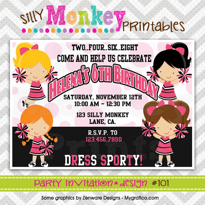 68 best images about Cheerleading Party – Cheerleading Party Invitations
