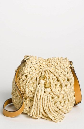 Tory Burch 'Dawson - Small' Crocheted Bucket Bag available at #Nordstrom