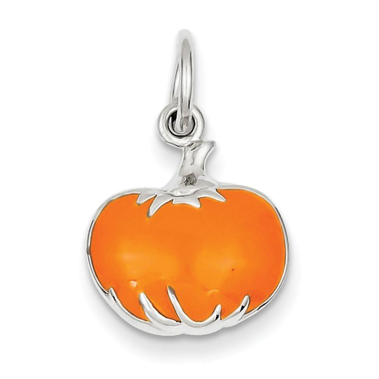 Sterling Silver Orange Enameled Pumpkin Charm. Made in China. Arrives ready for gifting. Free gift packaging included. Shop with confidence. West Coast Jewelry has been a trusted seller for over 10 years and is dedicated to excellent customer service. Your satisfaction is 100% guaranteed.