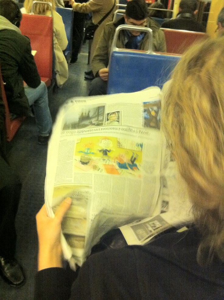 La lectrice RER B Gare du Nord 14/11/2012