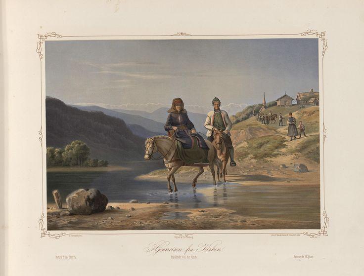 Norske Folkelivsbilleder 03 - Hjemreisen fra Kirken (Adolph Tidemand). jpg (4432×3372)