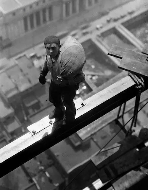 During construction of The Manhattan Company Building at Forty Wall Street, New York. 1930.
