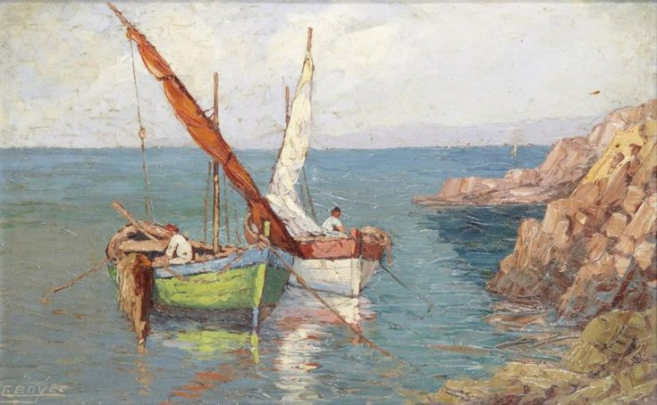 Clément BOYER (Actif au XX ème siècle) Voilier en bord de mer Huile sur panneau 19 x 29 cm Signé en bas à gauche - Millon - 11/06/2013