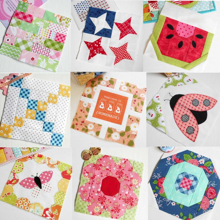 Just nine of the fifty fun blocks in The Patchsmith's Sampler Quilt Blocks pattern book.