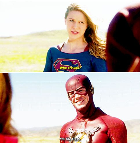 Who are you? I'm The Flash. #supergirl #1x18
