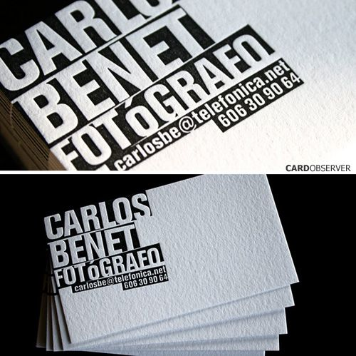 simple bold business cards
