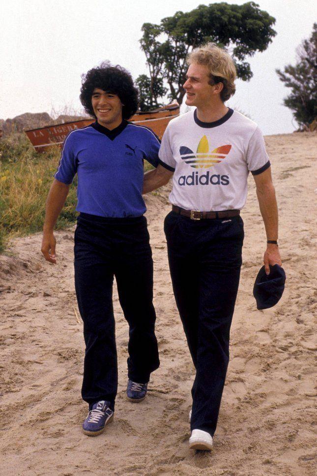 Diego Maradona et Karl-Heinz Rummenigge