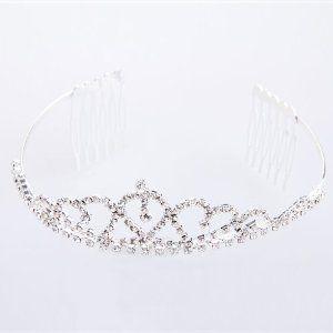 Kristall Strass Haarreifen Diadem Tiara Krone für Braut: Amazon.de: Schmuck