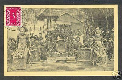 Bali-Legong-Dancers-Gong-Gamelan-Indonesia-stamp-1949