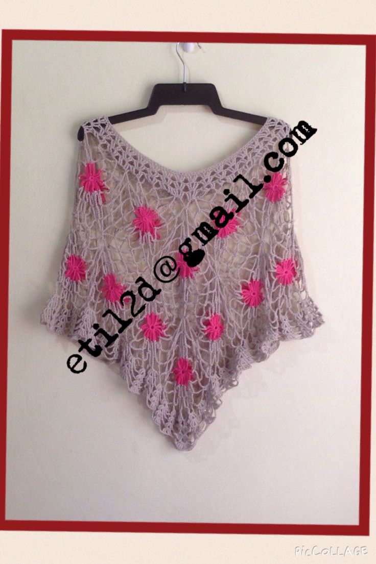 Crochet Summer Poncho - 100%cotton - Colours: pink and latte - Price: AUD$49.99 Ready to ship
